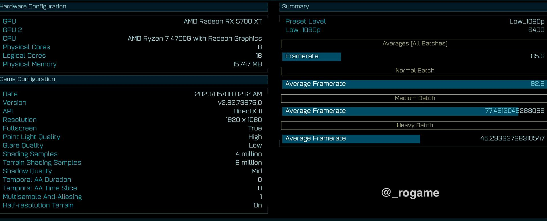 APU AMD Ryzen 7 4700G наследил в Ashes of the Singularity