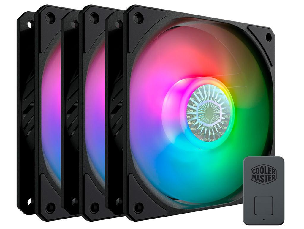 В серию вентиляторов Cooler Master SickleFlow 120 вошли модели с разными типами подсветки и без неё
