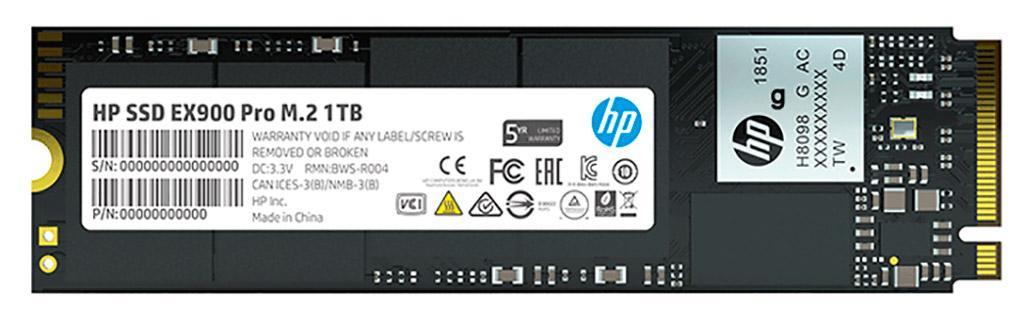 NVMe-накопители HP EX900 Pro получили некую независимую кэш-память
