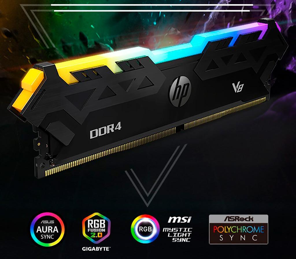 HP V8 RGB DDR4 – неожиданная линейка оперативной памяти