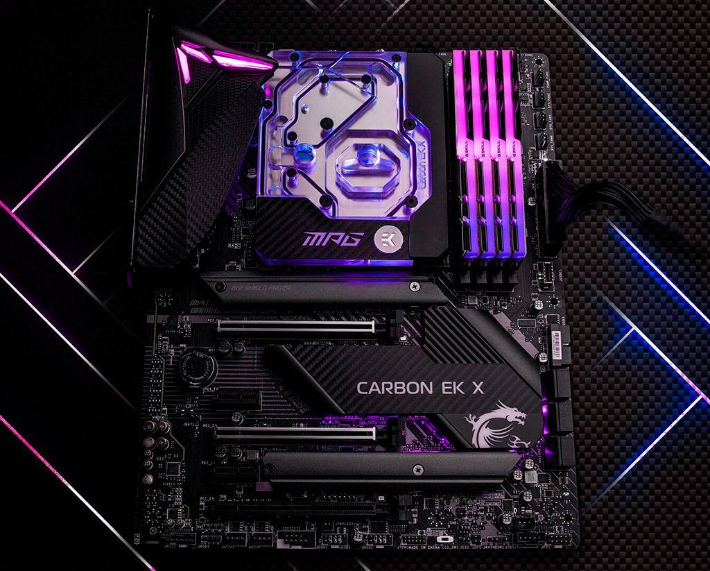 Материнская плата MSI MPG Z490 Gaming Pro Carbon EK X получила предустановленный водоблок от EKWB