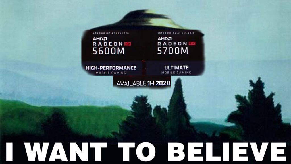 Мобильные видеокарты Radeon RX 5600M и RX 5700M уже на подходе