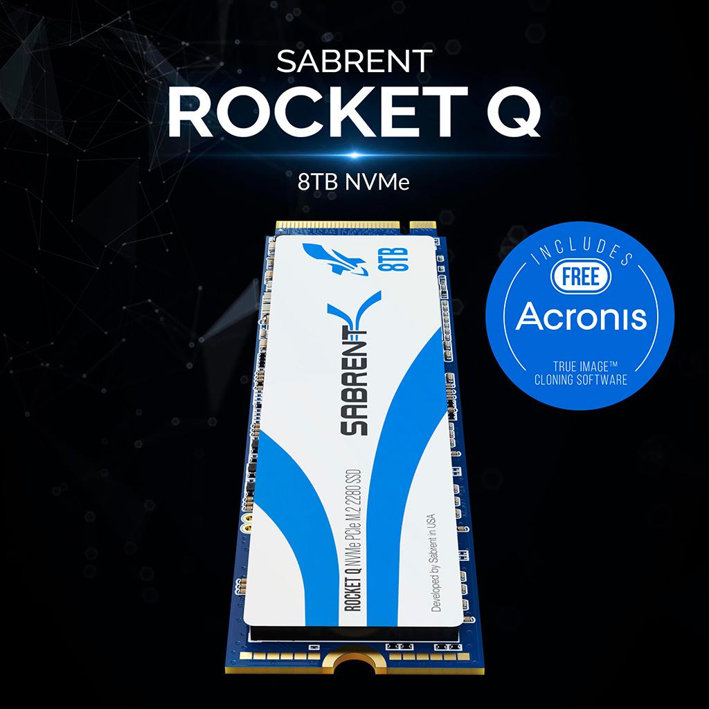 Sabrent выпускает Rocket Q – первый в мире 8-терабайтный M.2-накопитель