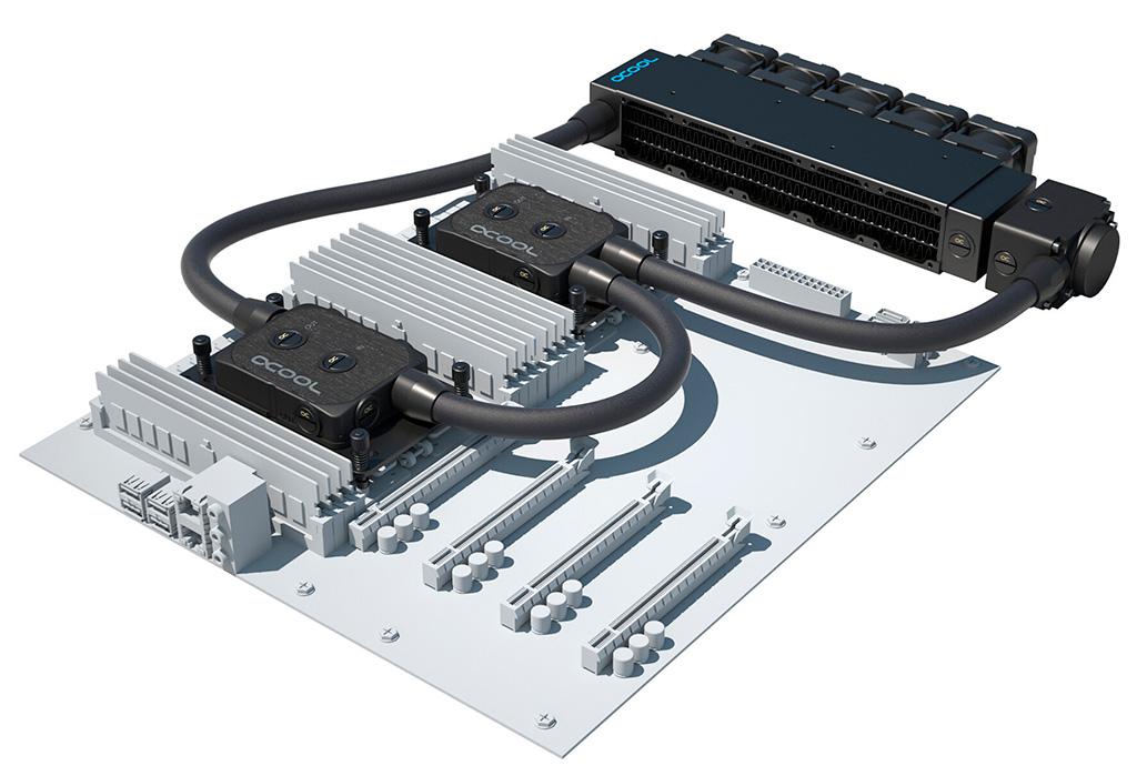 Предназначенные для серверов СЖО Alphacool ES Pro могут рассеять до 2400 Вт тепла
