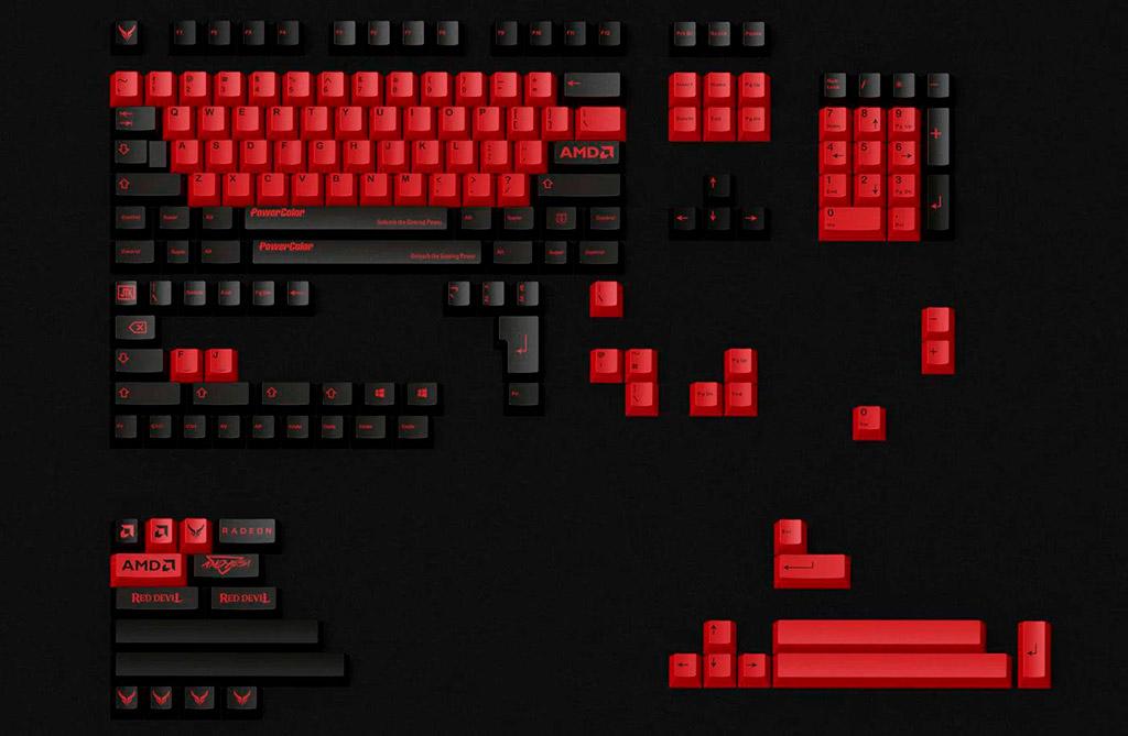 Поклонникам AMD такие кейкапы для клавиатуры точно понравятся