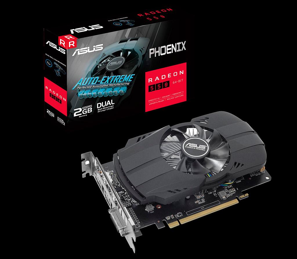Polaris в 2020? Почему бы и нет? На подходе ASUS Radeon 550 Phoenix с 2 ГБ памяти