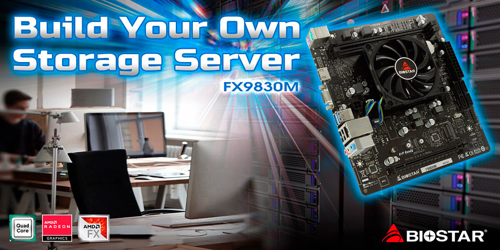Biostar FX9830M получила 4-ядерный AMD FX-9830P из семейства Bristol Ridge