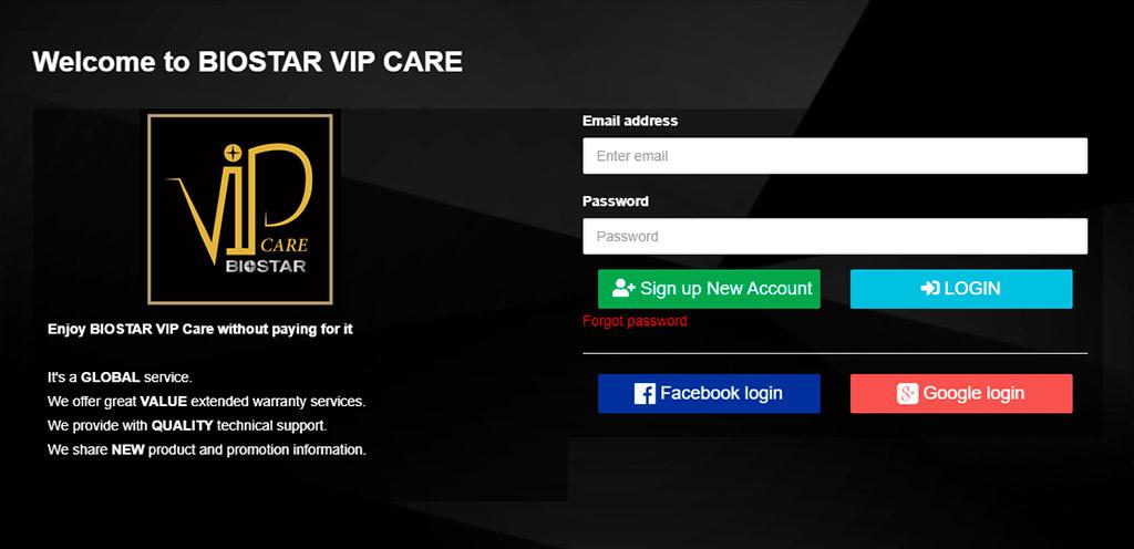 Сервис Biostar VIP Care даёт возможность бесплатно расширить гарантию до 5 лет, но и не только это
