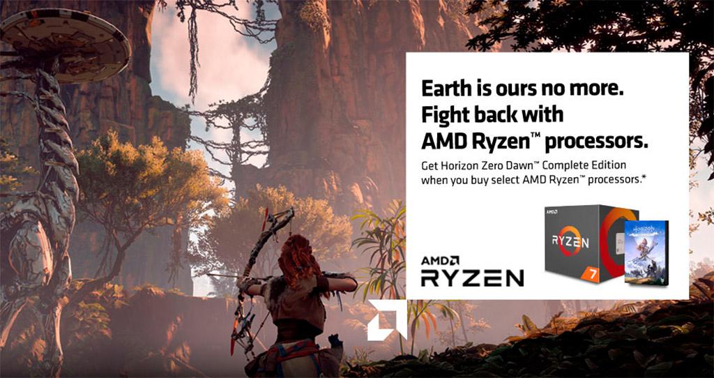 AMD одаривает покупателей Ryzen 3000 игрой Horizon Zero Dawn