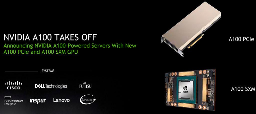 NVIDIA анонсировала ускоритель A100 с интерфейсом PCI-Express 4.0