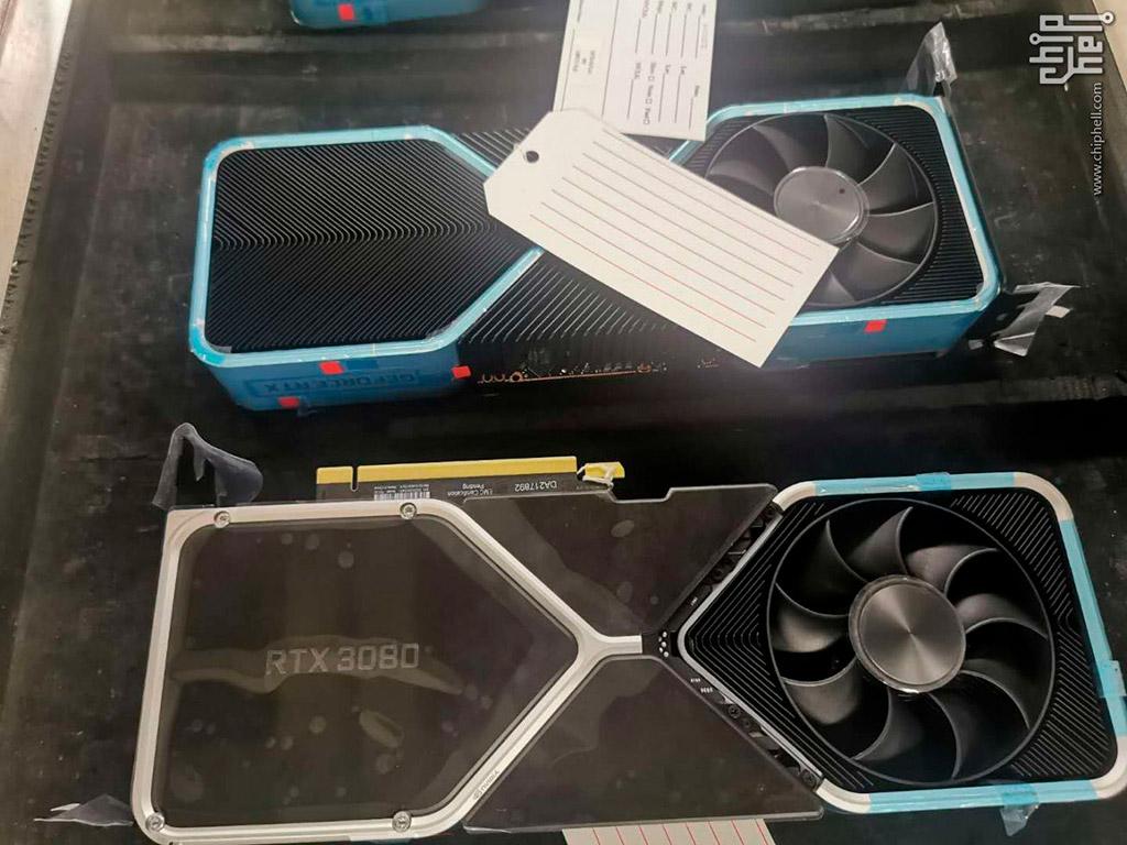 Утечка: фото радиатора NVIDIA GeForce RTX 3080