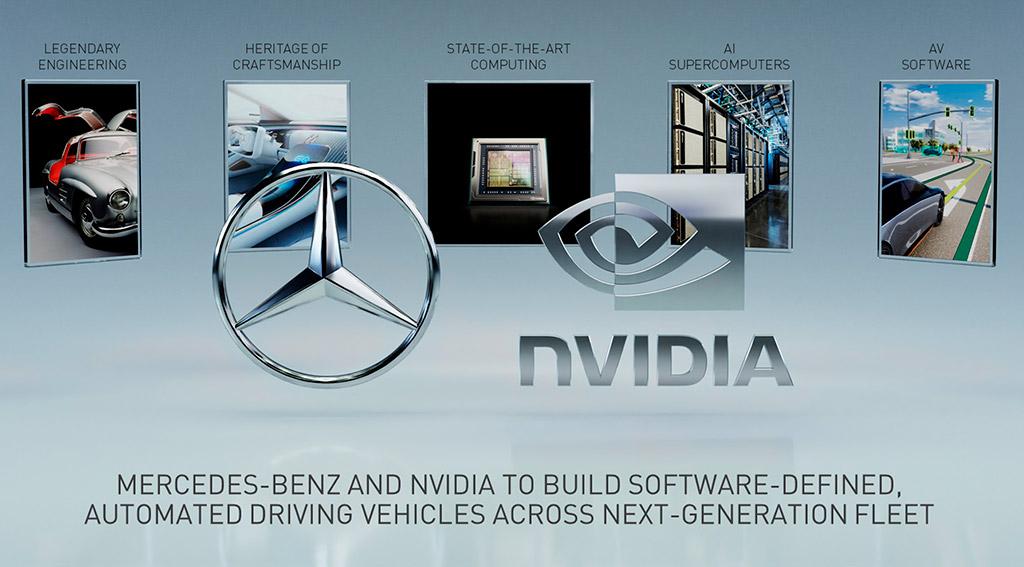 Автомобили Mercedes-Benz будут использовать платформу NVIDIA Drive