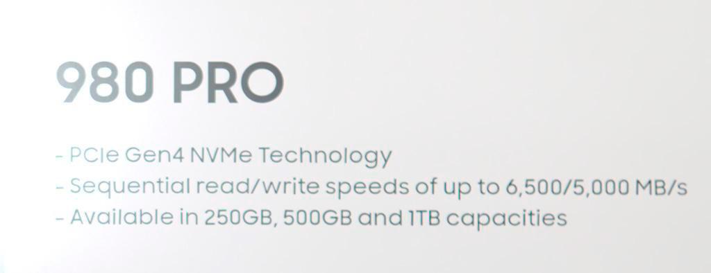 Слух: Samsung 980 Pro с интерфейсом PCI-E 4.0 дебютируют в течении двух месяцев