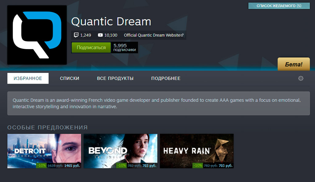 Heavy Rain, Beyond Two Souls и Detroit: Become Human вышли в Steam без Denuvo
