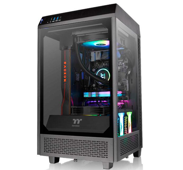 Корпус Thermaltake The Tower 100 рассчитан для mini-ITX плат