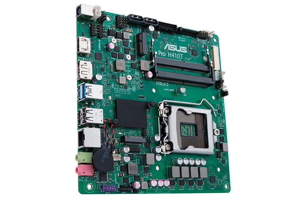 ASUS Pro H410T поддерживает 65-ваттные процессоры как максимум