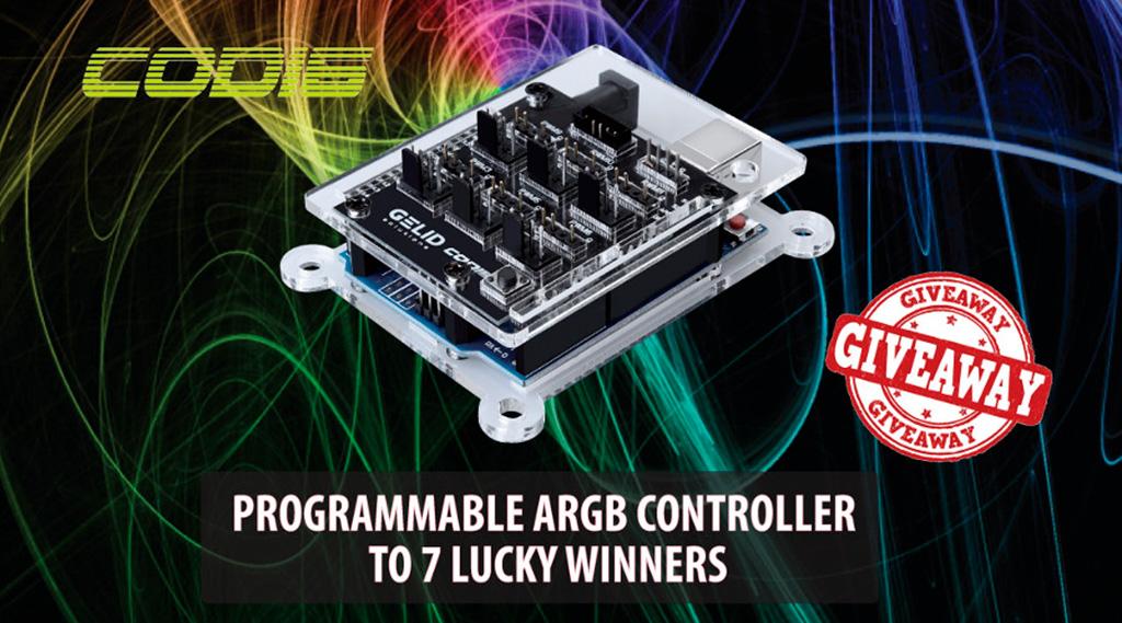 ARGB-контроллер на максималках за репост: Gelid дарит контроллеры CODI6