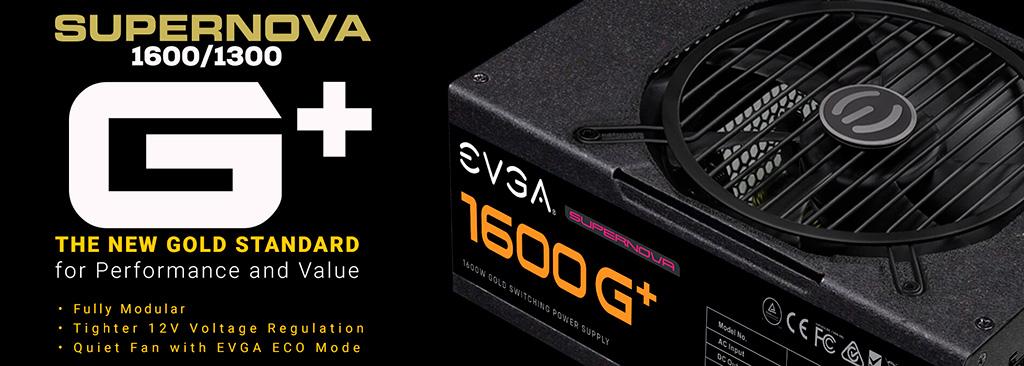 Серия блоков питания EVGA SuperNova G+ пополнилась моделями на 1300 и 1500 Вт