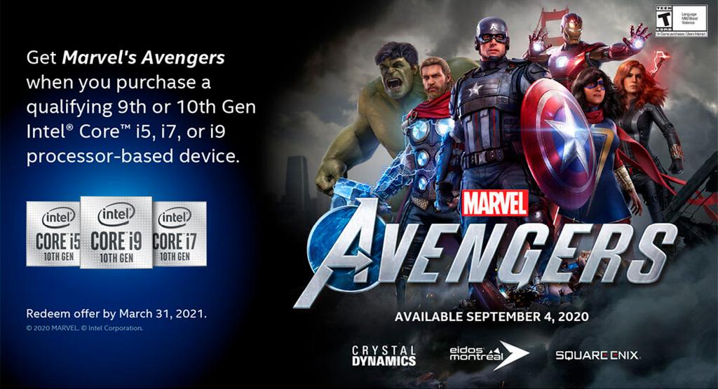 В комплект Intel Core Avengers Edition игра Marvel's Avengers вроде как входит