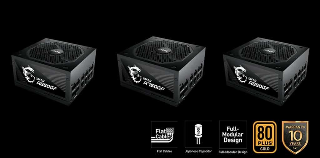 Блоки питания MSI MPG GF имеют в комплекте 12-pin разъём питания NVIDIA