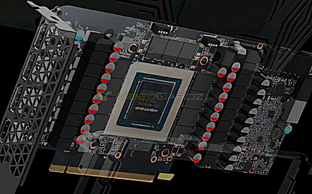 GPU NVIDIA GA102 позирует на фото целиком