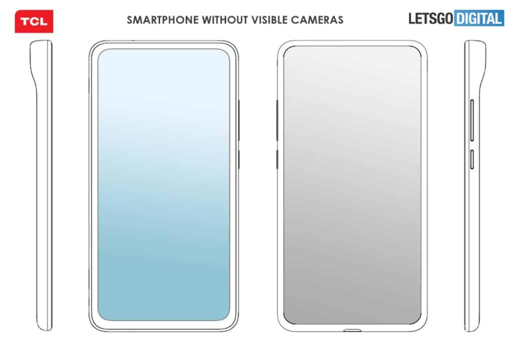TCL патентует смартфон с «невидимыми» камерами