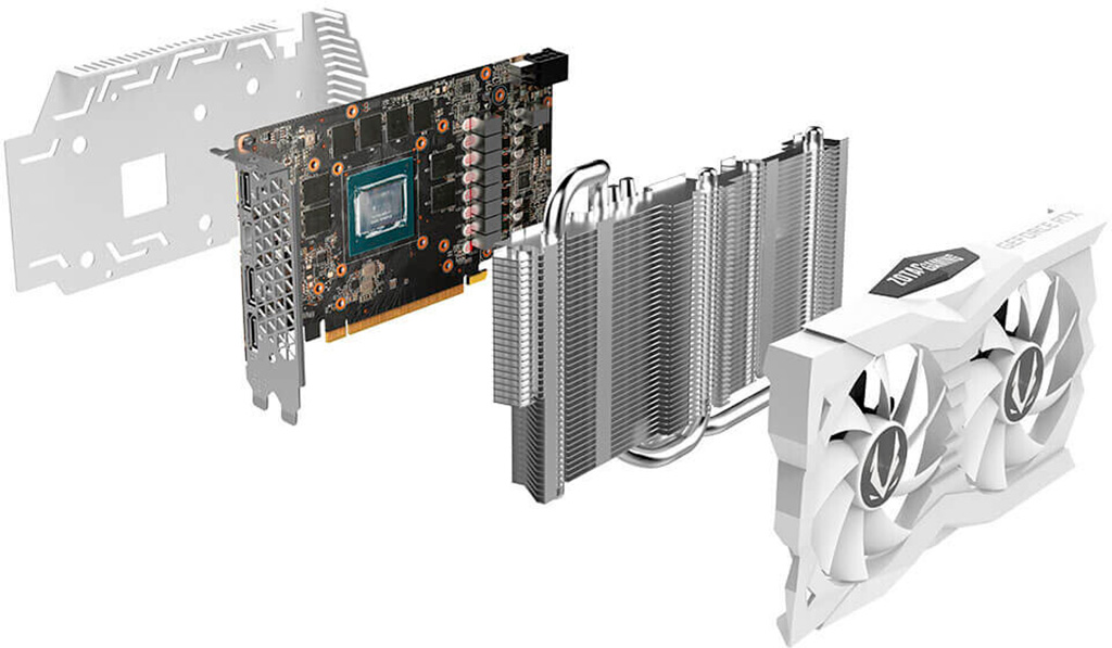Zotac GeForce RTX 2060 Super OC White Edition выполнена в снежно-белом дизайне