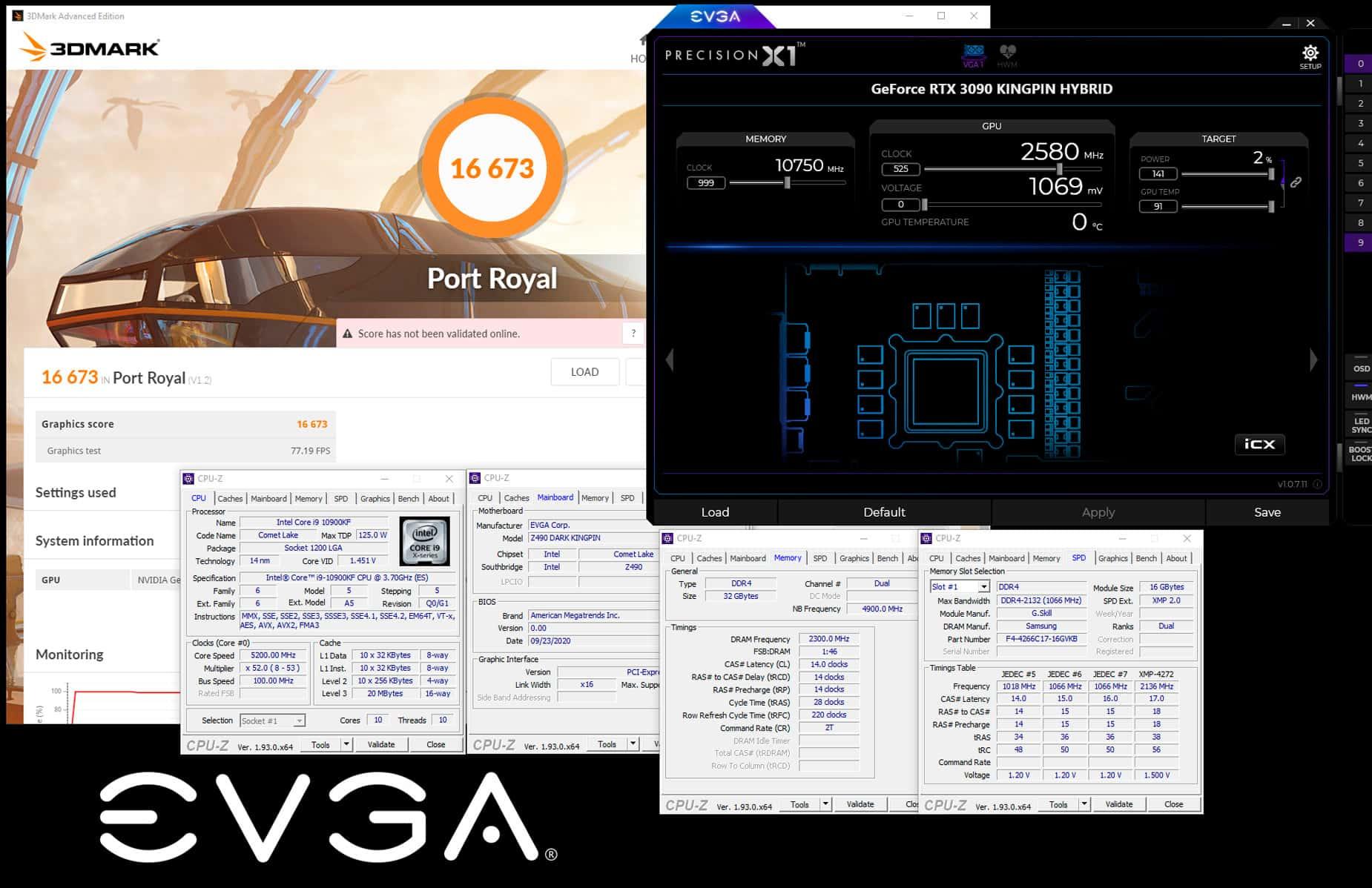 Мировой рекорд в 3DMark Port Royal обновлен силами GeForce RTX 3090, разогнанной по ядру до 2,58 ГГц