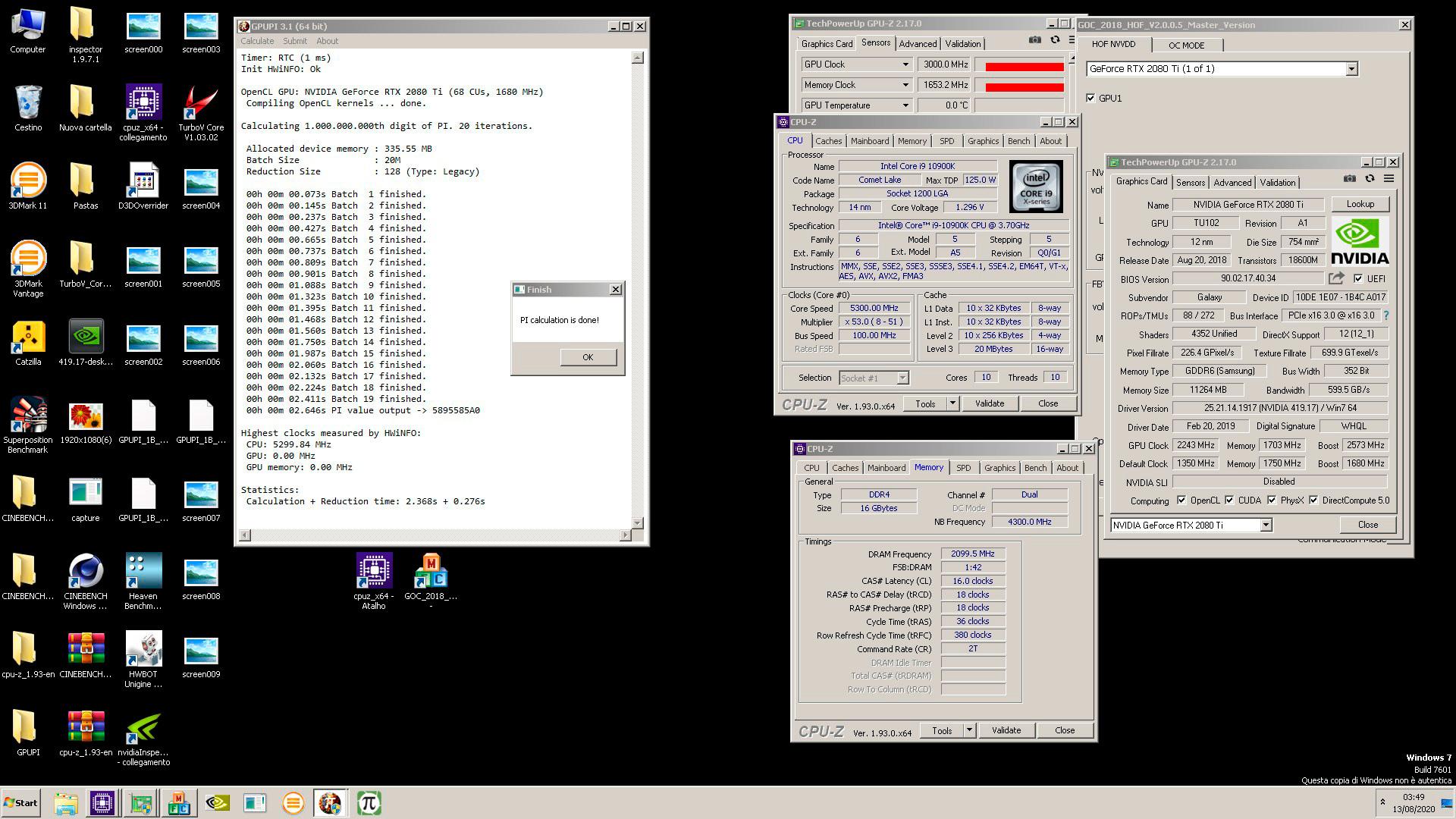 Потенциал в потенциаловнице ещё есть! GeForce RTX 2080 Ti разогнана по ядру до 3 ГГц