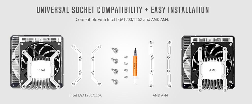 Процессорный кулер ID-Cooling IS-60 EVO ARGB в высоту лишь 64 мм