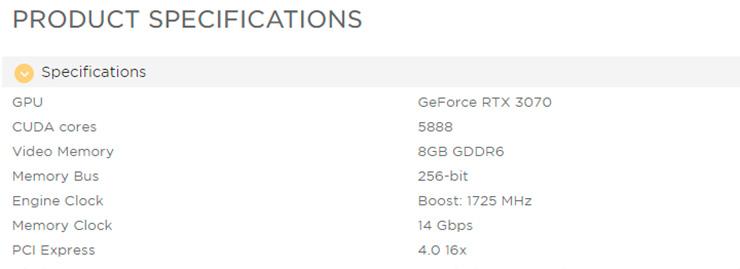 Некоторые видеокарты NVIDIA GeForce RTX 3070 используют 14-ГГц память GDDR6