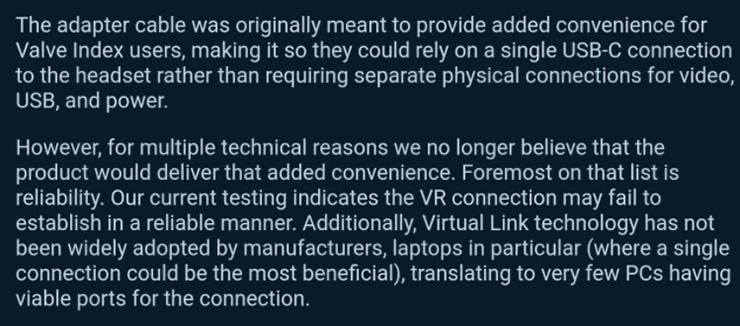Интерфейс VirtualLink для VR-гарнитур скоропостижно «умер»