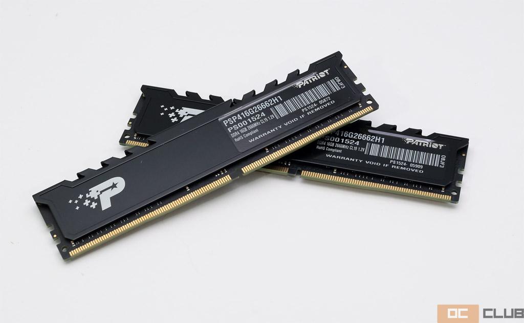 Patriot Signature Premium DDR4-2666 32 ГБ (PSP416G26662H1): обзор. Память без излишеств