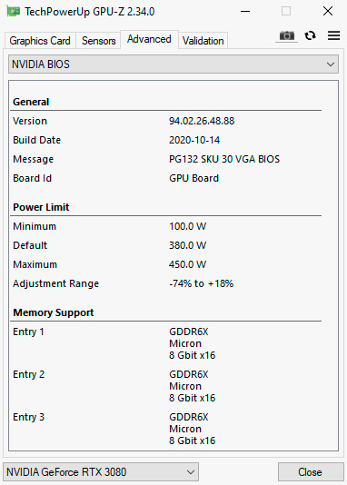 EVGA для GeForce RTX 3080 FTW3 Ultra выпустила оверклокерский VGA-BIOS