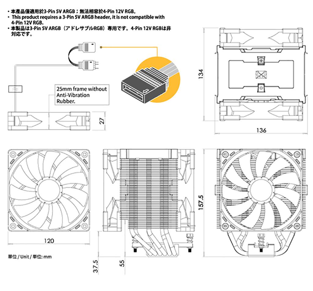 Scythe Mugen 5 ARGB Plus: обзор. Пример тандема из отличного радиатора и в кои-то веки не халтурной подсветки