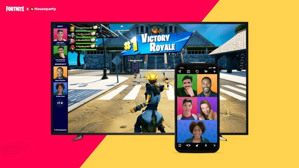 Групповой видеочат Houseparty приглашает друзей в Fortnite на ПК, PS4 и PS5