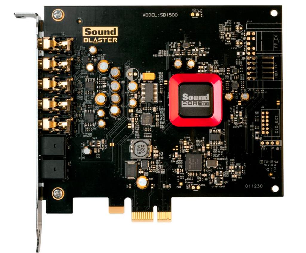 Звуковая карта Creative Sound Blaster Z SE оценивается в 7500 рублей
