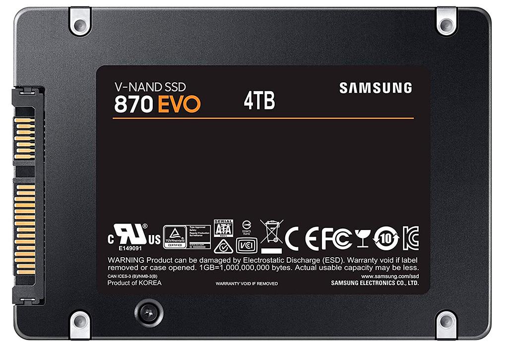 На подходе SSD-накопители Samsung 870 Evo ёмкостью от 250 ГБ до 4 ТБ