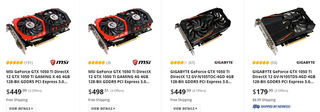 4-летняя NVIDIA GeForce GTX 1050 Ti возвращается на рынок