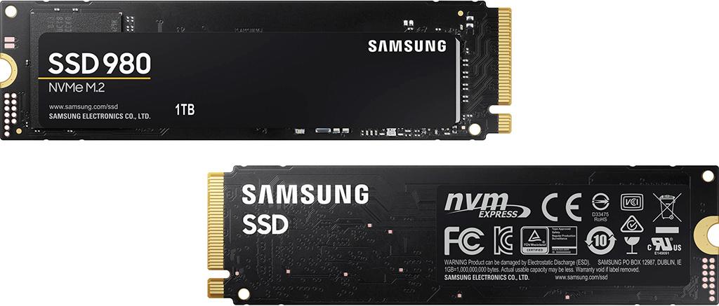 Накопители Samsung 980 появятся в продаже в конце месяца