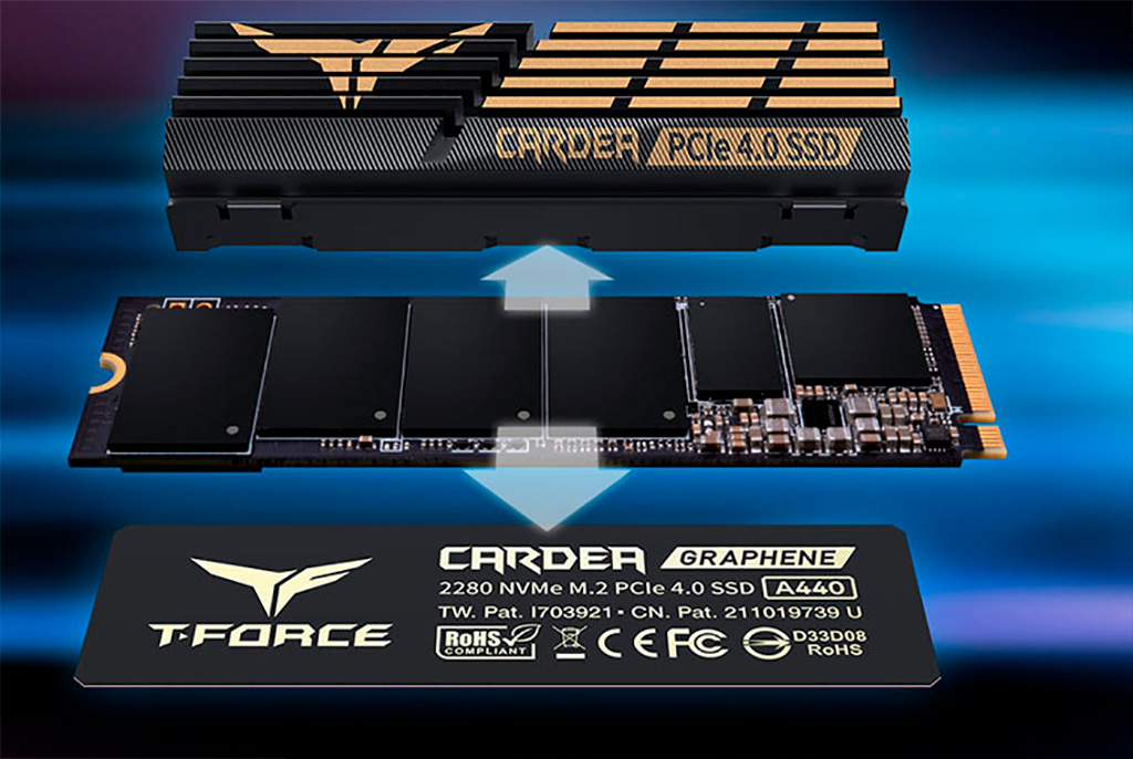 Team выпускает NVMe-накопители T-Force Cardea A440 с двумя радиаторами