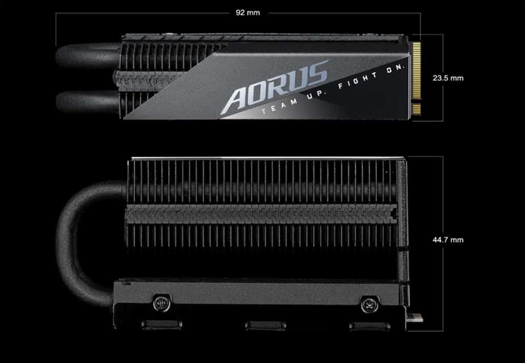Накопители Gigabyte Aorus Gen4 7000s Prem. оснащены впечатляющим радиатором