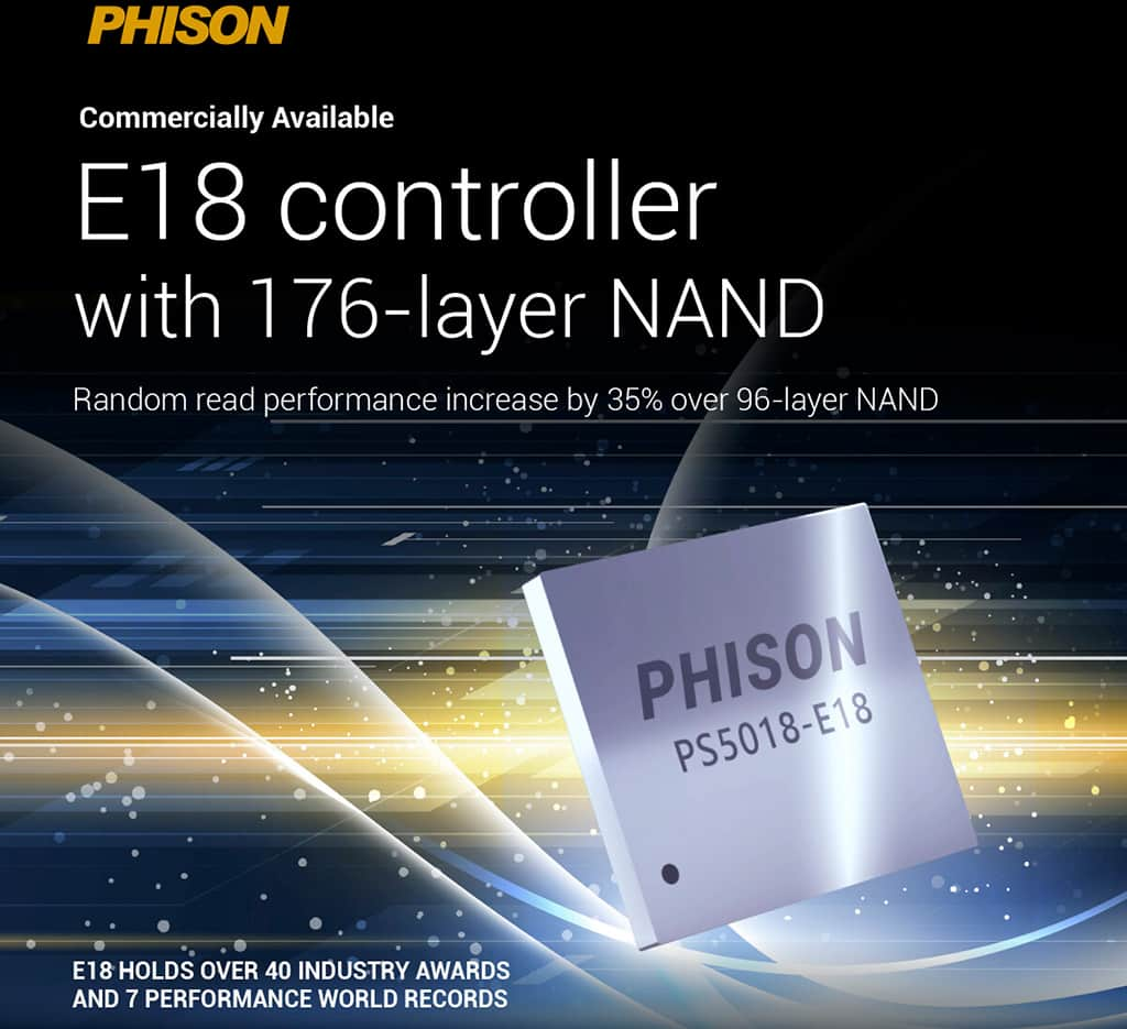 NVMe-накопители следующего поколения на контроллере Phison E18 преодолеют 7 ГБ/с барьер