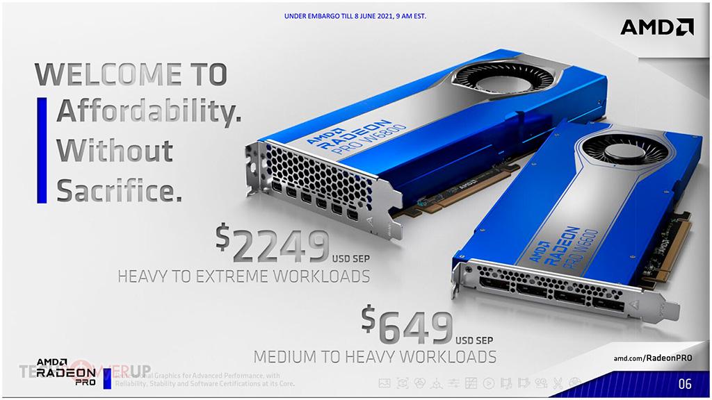 Профессиональные адаптеры AMD Radeon Pro W6000 на архитектуре RDNA 2 официально представлены