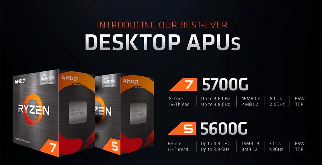 Гибридные процессоры Ryzen 5000G (Cezanne) c 5 августа поступят в розничную продажу официально