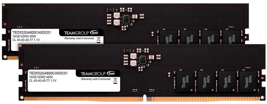 В продаже замечены комплекты оперативной памяти Team Elite DDR5-4800 2х 16 ГБ