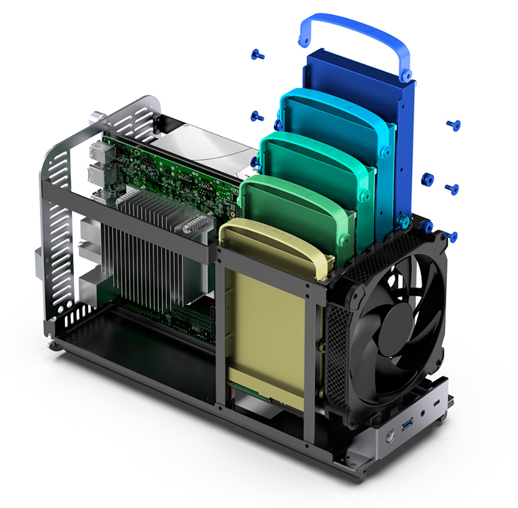 Корпус Jonsbo N1 под mini-ITX платы получил панели из 3-мм алюминия