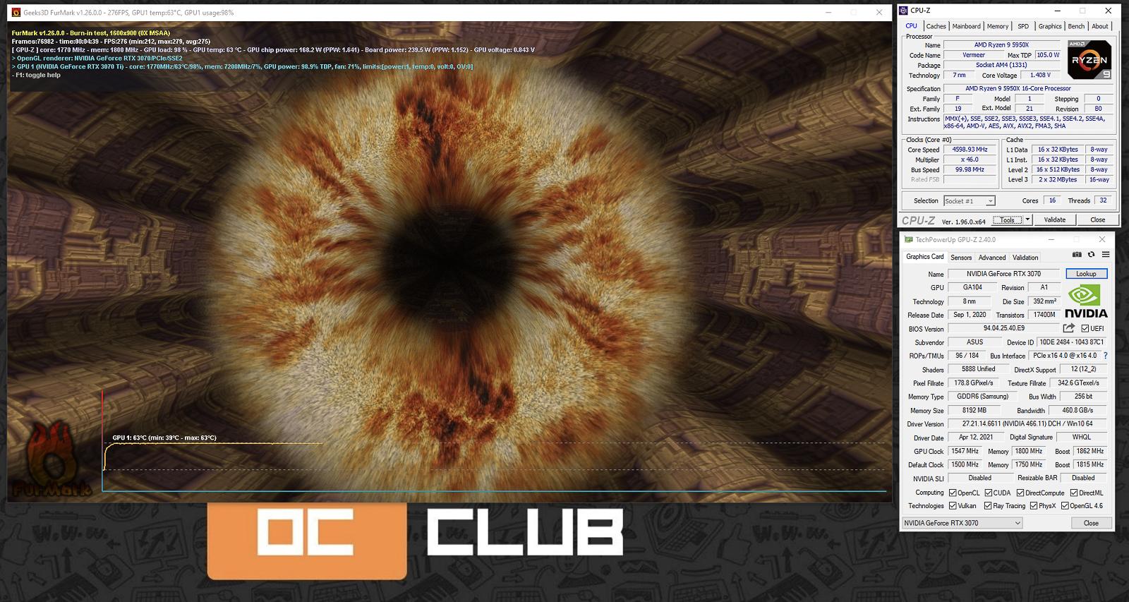 ASUS GeForce RTX 3070 TUF Gaming OC: обзор. Крепкая видеокарта