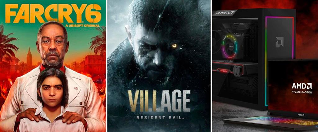 Far Cry 6 и Resident Evil Village бесплатно при покупке ПК и ноутбуков с Ryzen и Radeon