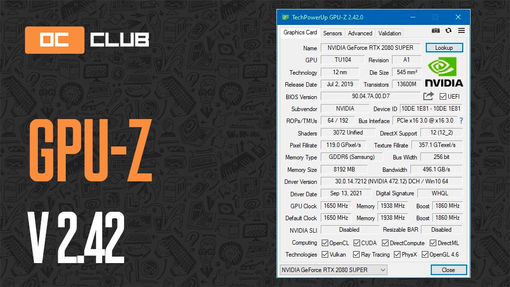 GPU-Z версии 2.42.0 получила множество мелких исправлений